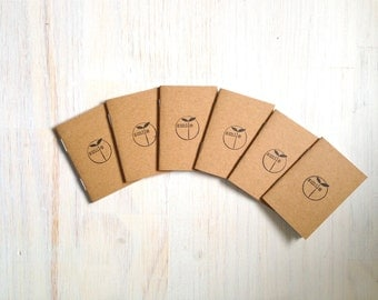 Tiny Journals: Notebooks, Smile, Kids, Brown, Favors, Small Notebooks, Unique, Gift, Stocking Stuffer, For Him, For Her