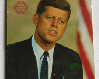 Vintage Wonder Book - History Book, The Story of John F. Kennedy, Earl Schenck Miers, American History, American Politics