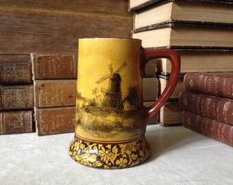Royal Doulton Burslem Tankard Mug Antique England Signed Hallmarked