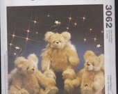 Christmas Bear Pattern - McCall's Crafts 3062 - Bear with Feather Wings - Angel Bear with Moveable Joints - McCalls Christmas Bear