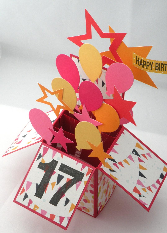 Birthday Cards Box ~ D birthday card box with balloons