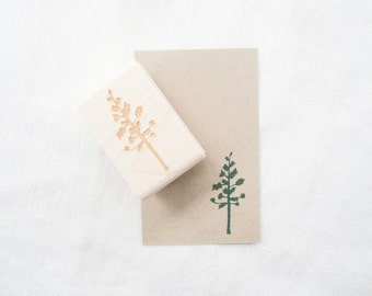 Pine Tree Stamp - Rubber Tree Stamp - DIY Projects - Tree Stamp - Nature Stamp - Plant Stamp - Autumn and Fall Stamp - K0023