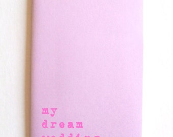 Wedding Book; MOLESKINE® journal for brides and grooms! Or even for those who dream of becoming brides and grooms!