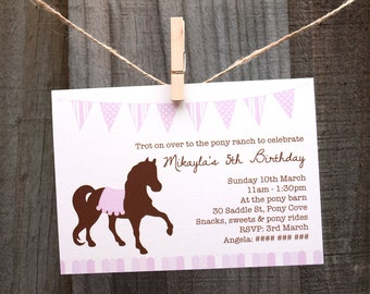 Pony Party Invitation - Printable