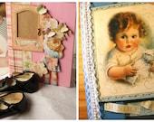 Scrapbook Album for Photos - Graphic 45 Papers, Boy or Girl, Handmade, Interactive