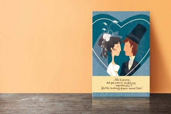 Jane Austen - Pride and Prejudice postcards (set of 5) - Wedding