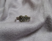 Sterling Silver Pave X Ring Size 5.5