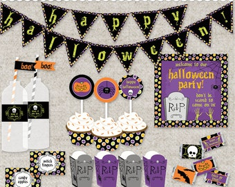DIY Halloween Party - Instant Download PDF Printable Files