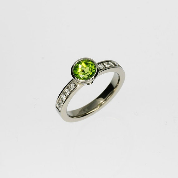 peridot engagement ring engagement green