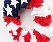 AMERICAN FLAG Patriotic USA Wreath. Summer wreath. Patriotic wreath. American flag wreath. Red, white, & blue wreath. July 4th wreaths.