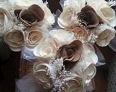 Cream Rose Bridesmaid Bouquets