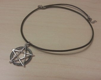 Wizards Pentagram Necklace or Bracelet on Leather or Suede Cording