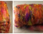 Fiber Batt, Art Batt, Fiber Art Batt for Spinning or Felting - 1.85 ounces