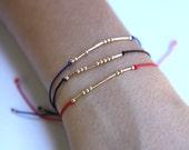 Gold Filled Morse Code Bracelet