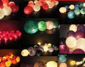 Battery Powered LED Bulbs 20 Big Cotton Balls Fairy String Lights Party Patio Wedding Floor Hanging Gift Home Decor Living Bedroom Holiday