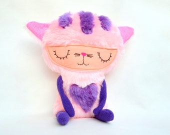 Stuffed animal Plush Cat Soft Safe Toy for Children Plush Fleece Cotton.