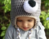 Wolf Beanie, Wolf Costume, Baby Shower Gift, Halloween Costume, Wolf Hat, Wolf Outfit, Girl Wolf, Bad Wolf