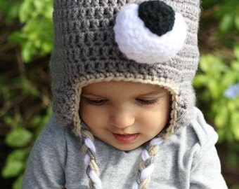 Wolf Beanie, Wolf Costume, Baby Shower Gift, Crochet Photo Prop, Wolf Hat, Wolf Outfit, Girl Wolf, Bad Wolf