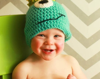 Monster Beanie, Baby Shower Gifts, Photo Props, Halloween Costume