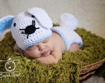 Halloween Costume, Bunny Costume, Easter Bunny Costume, Baby Shower Gift, Photo Prop, Newborn Outfit, Newborn Costume, Baby Gift, Baby Boy