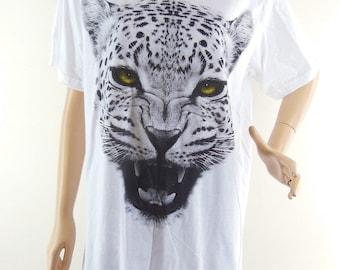 Tiger T Shirt (Size L) Tiger Shirt  Animal Style Men T-Shirt  Women T-shirt Women Shirt White T-Shirt Screen Print