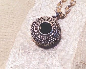 Witchy Black Spinel Necklace Handmade Jewelry