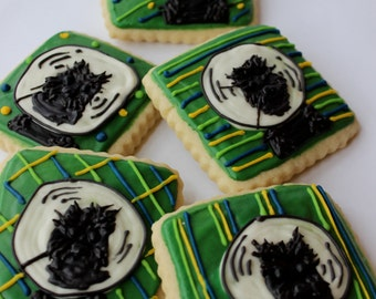 Dog Portrait / Animal Portrait Sugar Cookies with Buttercream Frosting