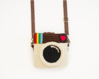 Crochet Case for Fuji Instax Camera - Instagram (Original Color)