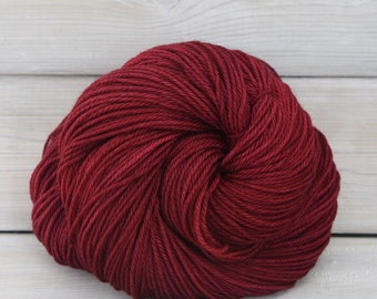 Orion - Hand Dyed Superwash Merino Wool Sport Yarn - Colorway: Cranberry