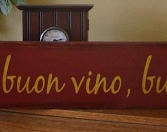 Italian Kitchen Wooden Primitive Sign Good Food Good Wine Good Friends Cheers