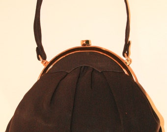 Midcentury Faille Evening Bag