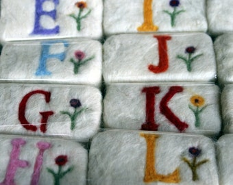 Felted Soap with Monograms