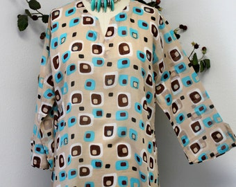 Cotton Plus size Tunic top. Medium to 2XL