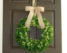 fall wreath summer wreath boxwood wreaths for front door wreaths year round wreath, evergreen wreaths