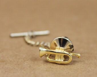 Vintage Trumpet Tie Tack