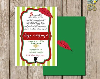 Peter Pan Invitation - Printable File - PDF - Printable Party