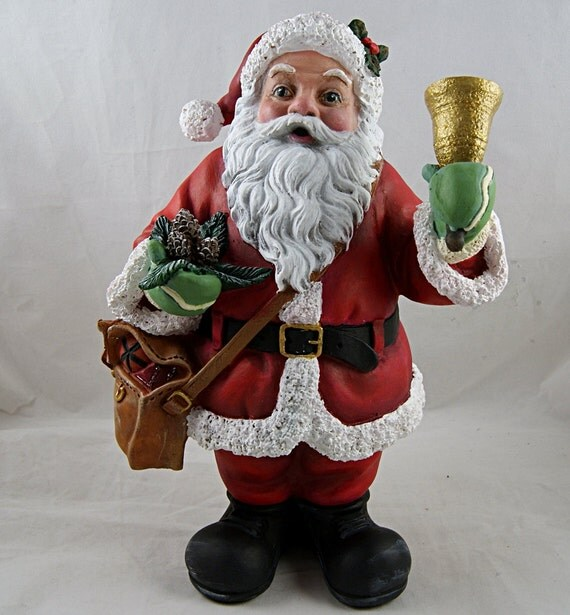 Hand painted santa resin figurine christmas decoration holiday