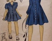 1940s Rare Girls Princess Dress with Sailor Collar DuBarry Pattern 2669B Size 14
