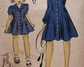 1940s Rare Girls Princess Dress /Sailor Collar /DuBarry Pattern 2669B /Size 14