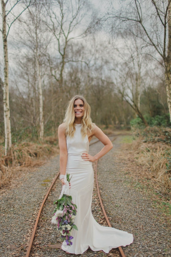 Ember Bohemian Luxe Silk Charmeuse Wedding Dress