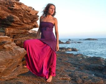 SWEET DRESS PURPLE, Cowl Neck, Open Back, Drapped Dress, Versatile Dress, Woman Top, Sexy Dress, Elvish Gypsy Fairy, Woman Clothing, Party