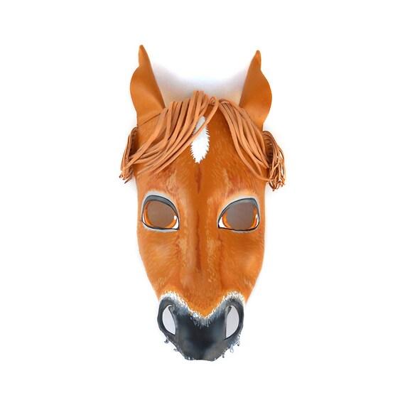 pferd halloween leder maske braune tiere pferde esel karneval. Black Bedroom Furniture Sets. Home Design Ideas