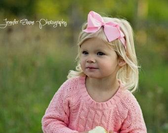 Large Light Pink Bow Headband, Baby Headband, Newborn Bow Headband, Infant Headbands, Headbands for Babies, Headbands for Baby, Headbands