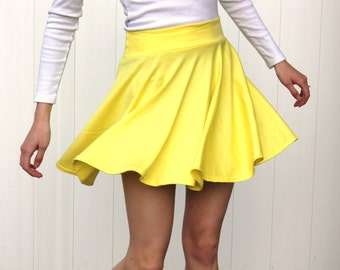 Circle Skirt // Skater Skirt // cotton jersey knit skirt // women's skirt