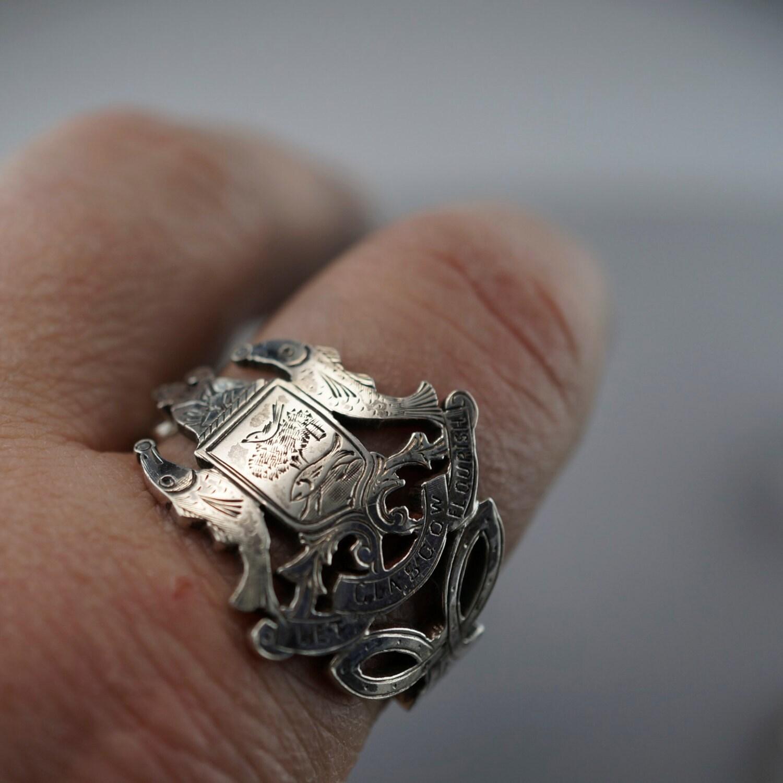 antique scottish ring glasgow scotland spoon ring size 14
