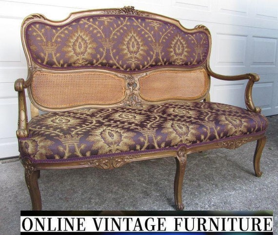 restored 1800s antique french settee loveseat love seat sofa. Black Bedroom Furniture Sets. Home Design Ideas