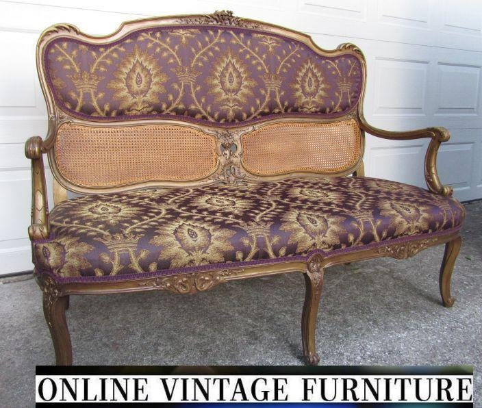 Antique Sofa Loveseat: RESTORED 1800s Antique French Settee Loveseat Love Seat Sofa