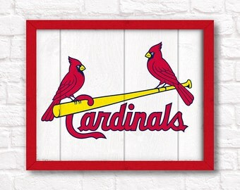 St. Louis CARDINALS rustic handmade sign - St. Louis Cardinals fan wall hanging Sports bar decor Man cave decor - Fathers Day gift for Dad