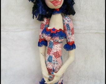 Cloth Dolls - Cloth Stump Doll - Cloth Art Doll - OOAK Art Doll - Textile Art Doll - Whimsical Cloth Doll - Stump Cloth Doll - Fabric Doll