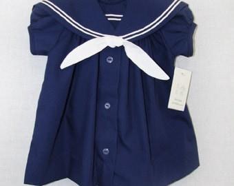 Nautical Birthday Girl   Baby Sailor   Baby Sailor Outfit   Nautical Sailor Dress   Baby Girl Nautical Dress   Sailor Outfit  291645